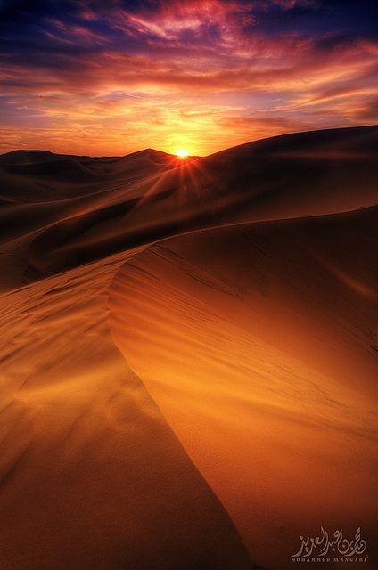 Sunset in the desert, Saudi Arabia - Explore the World with Travel Nerd Nici, one Country at a Time. http://TravelNerdNici.com