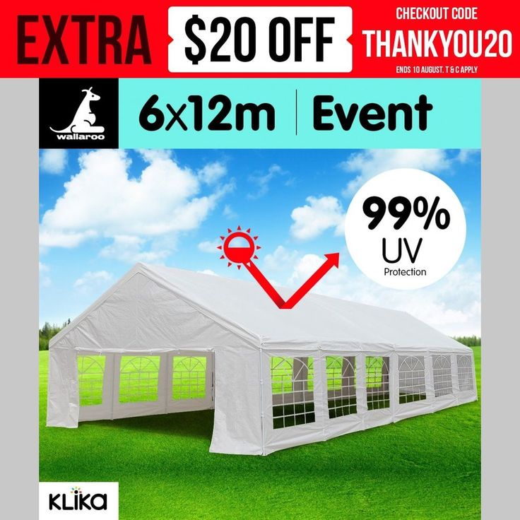 LARGE 12 x 6m OUTDOOR EVENT GAZEBO PARTY TENT MARQUEE WEDDING PAVILION CARPORT
