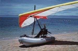 Semi-rigid inflatable boat / flying FIB Lomac