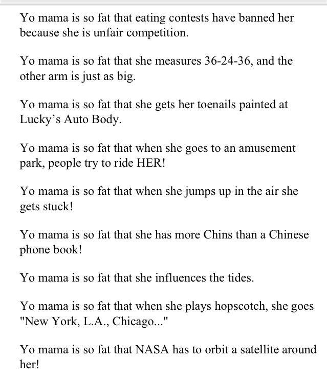 Best Yo Mama Jokes Images On   Mama Jokes Laughing