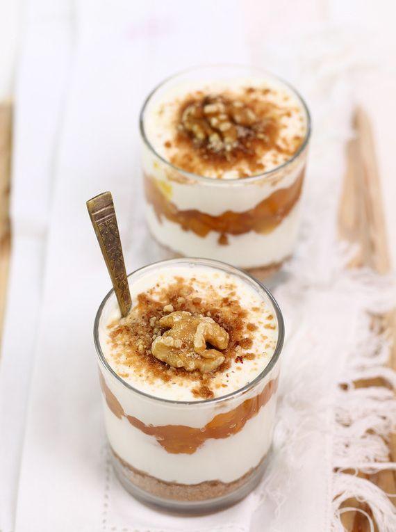 Krem piernikowy z jabłkami #słodkości #smakołyk #deser #przekąska #przepisy #jogurt #konfitury #pierniczki #orzechy #rodzynki #POLOmarket