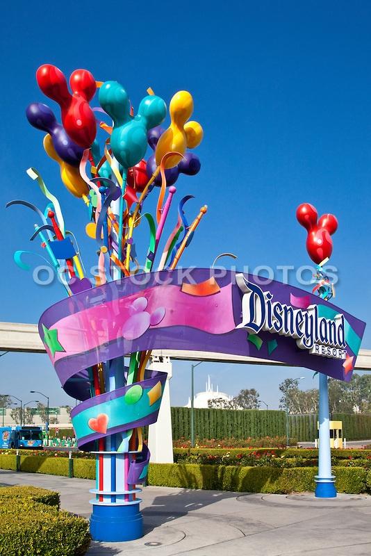 Disneyland Resort Entrance. Anaheim CA