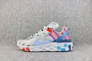 062282bb8f Nke Upcoming React Element 87 White Multi Color AQ3057 100 Mens Womens  Running Shoes