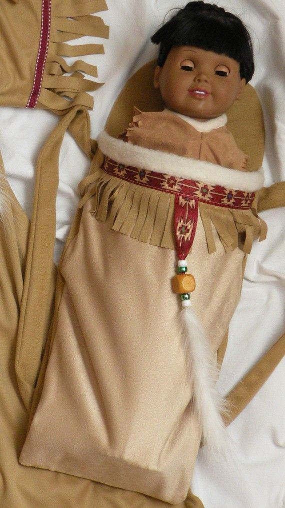 Native American Girl Indian Papoose fits all 18 inch dolls