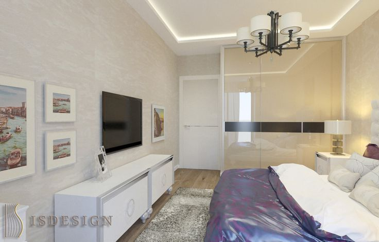 Спальная комната - Дизайн проект интерьера квартиры 3+kk в Резиденции River watch, Прага, Чехия. Квартира в современном стиле для молодой семьи. Архитектор – дизайнер Инна Войтенко.