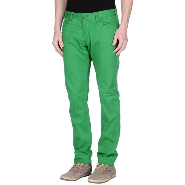 Armani Jeans Jeans ($45) ❤ liked on Polyvore featuring men's fashion, men's clothing, men's jeans, green, mens green jeans, mens button fly jeans, mens skinny fit jeans, mens super skinny jeans and mens green skinny jeans