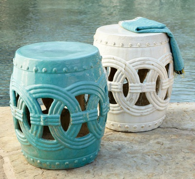 20 best images about ceramic stools on pinterest outdoor for Garden stool side table