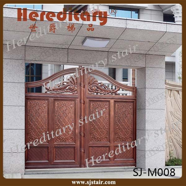 Look what I found Via Alibaba.com App: - Indian house latest main gate designs & Automatic Indian House Cast Aluminum Main gate designs