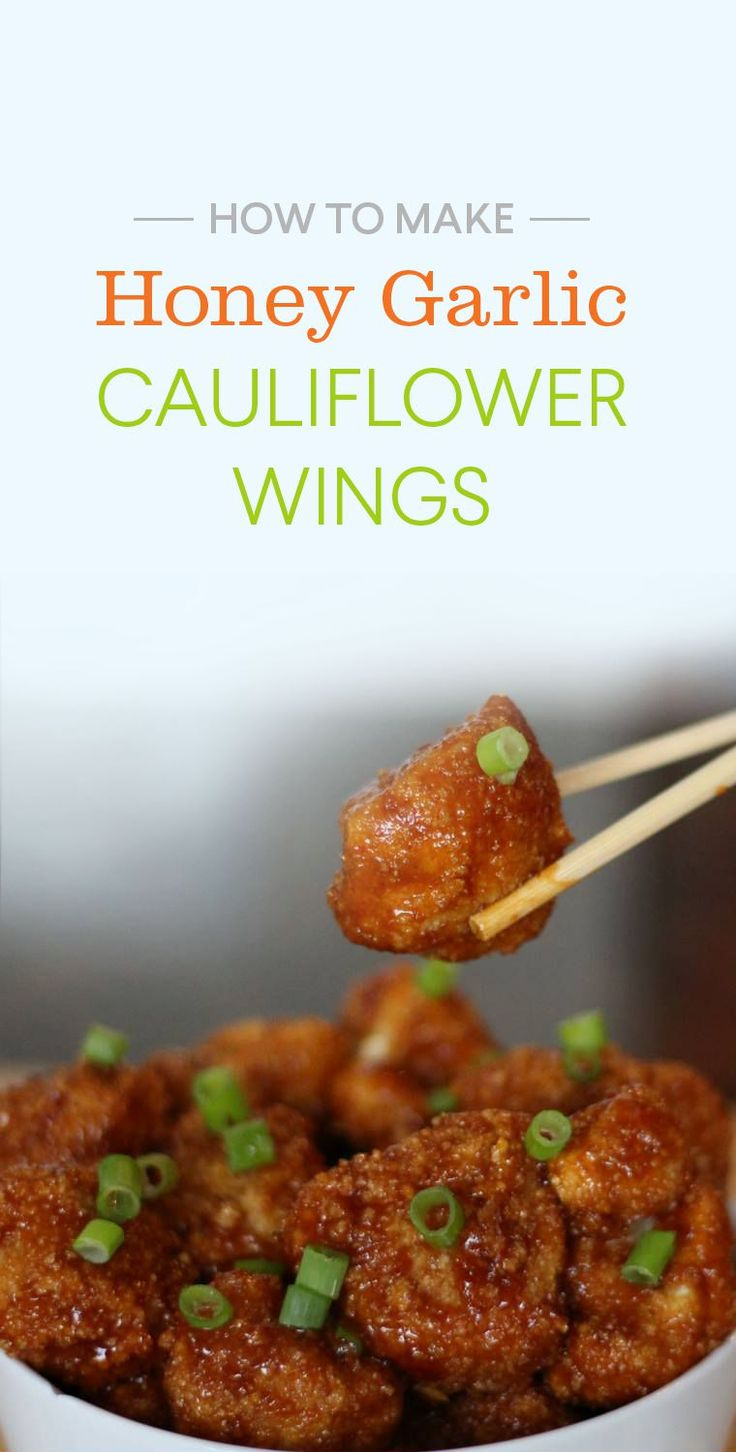 cauliflower wings, healthy cauliflower wings, vegan cauliflower wings, vegetarian cauliflower wings recipes, honey garlic cauliflower wings