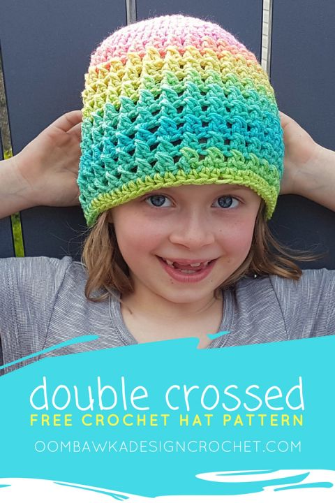 Double Crossed Hat - A Free Crochet Pattern in 11 Sizes • Oombawka Design Crochet