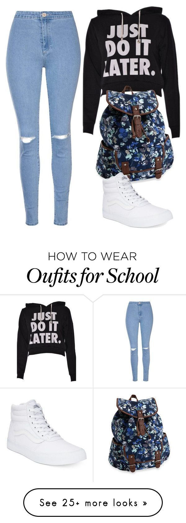 """Another School Look"" by roban016 on Polyvore featuring Glamorous, Aéropostale and Vans"