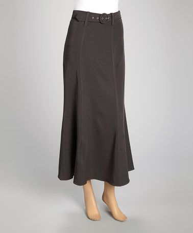 Love this Gray Belted Maxi Skirt - Women & Plus by Wall Street on #zulily! #zulilyfinds