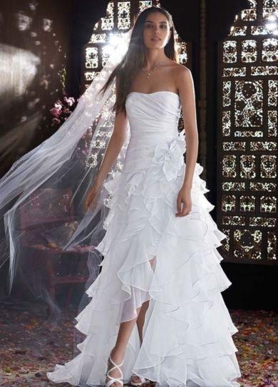 organza high low wedding dress - Google Search