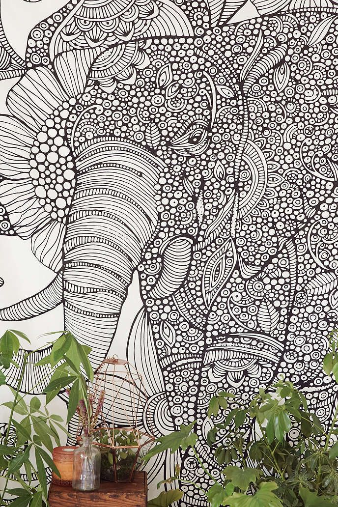 Valentina Harper Ruby The Elephant Tapestry - Urban Outfitters