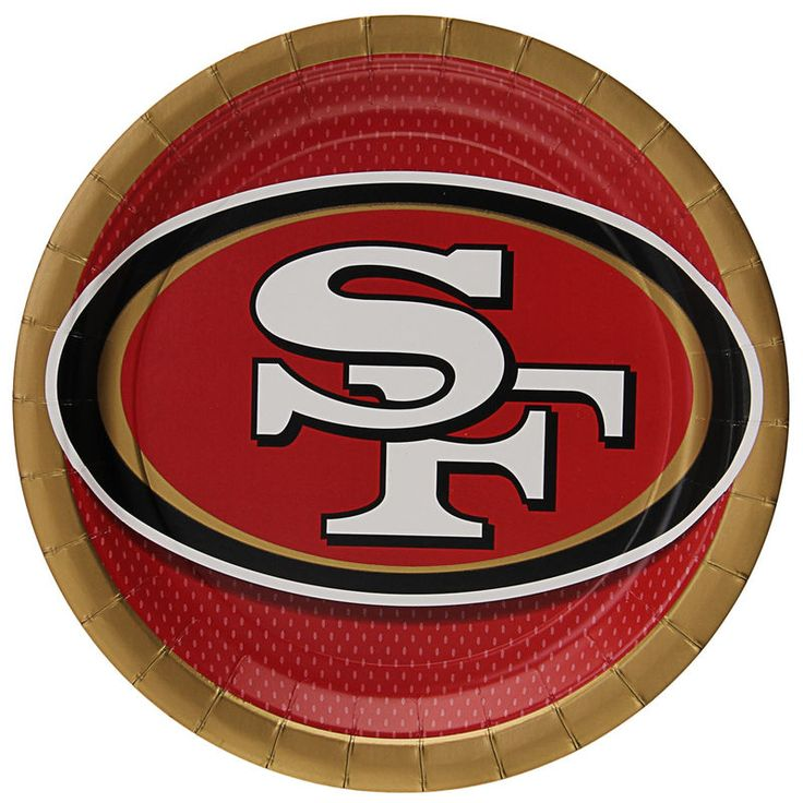 """San Francisco 49ers 9"""" Paper Plate 8-Pack"""
