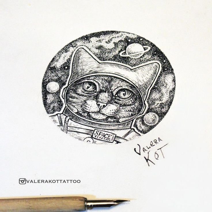 """Astronaut cat/Кот космонавт #space #spacecat #astronaut #cat #graphic #graphics #illustrator #illustration #ink #inkdrawing #inked #artwork #sketch…"""