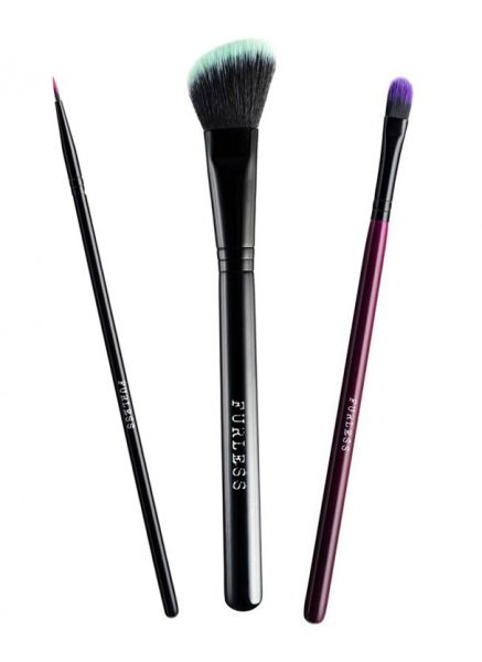 FURLESS COSMETICS QUICK KIT - 1. This limited edition quick kit has three high quality cruelty free brushes that will be a welcome addition to any kit. Choose your favourite kit, or collect them all, but hurry because they are only available for a limited time!