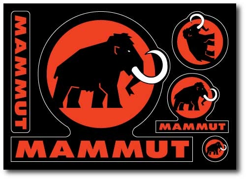 Great sticker sheet by Mammut made by Websticker.com Gallery