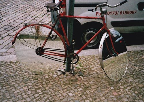 bike with mirror wheels