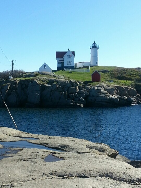 Kennebunkport, Maine. Went to this light house on our trip to Maine :)