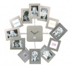 Zegar ścienny PT Family Time Waver srebrny  http://www.citihome.pl/zegar-scienny-pt-family-time-waver-srebrny.html