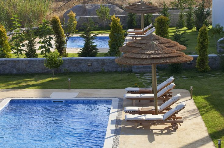swimming pool relaxation at Honey Villa, luxury for two in Greece