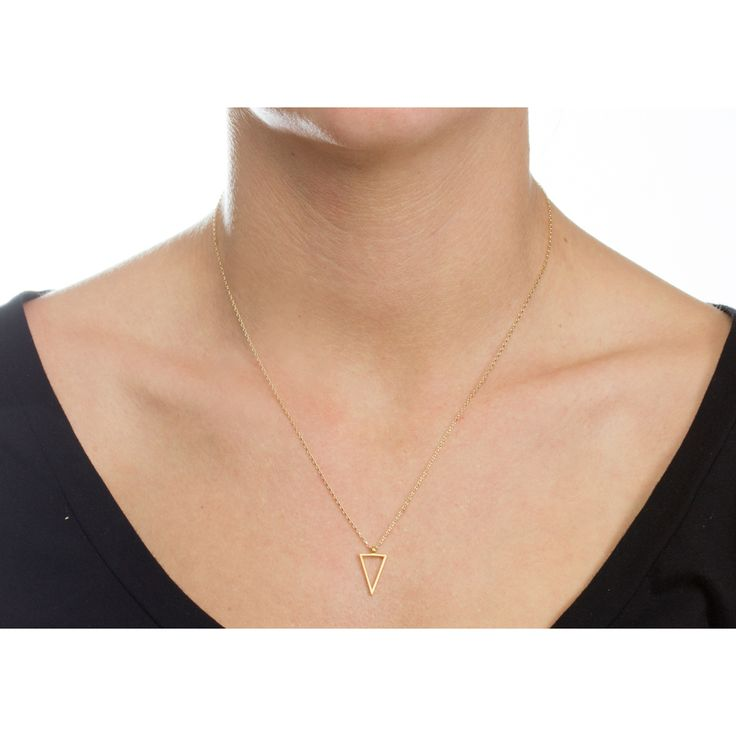 Lightness of Being Air Triangle Necklace, Gold Dipped | Dogeared