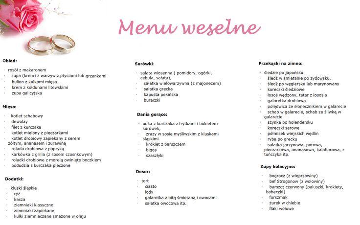 niebieska_podwiązka: Dla smakosza, czyli weselne menu