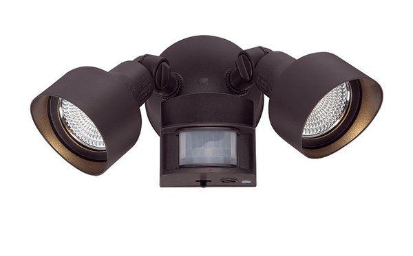 Mckeehan Led Outdoor Security Spot Light With Motion Sensor Led Outdoor Lighting Acclaim Lighting Led Flood Lights