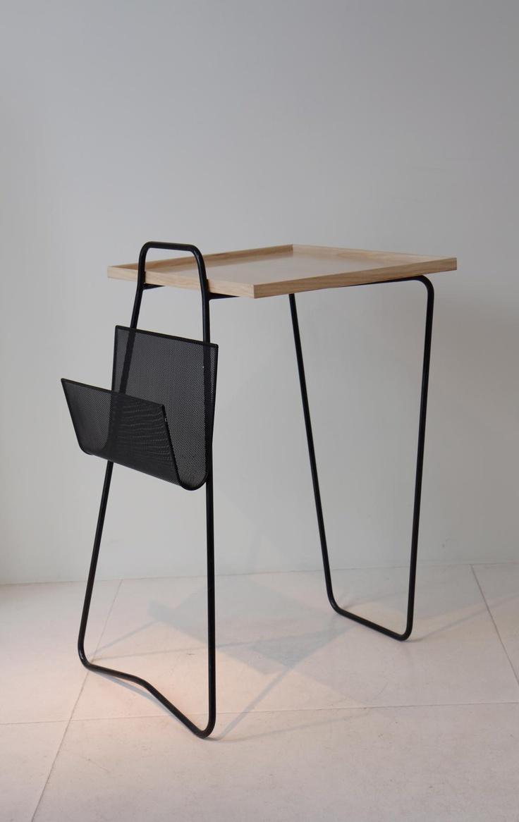 Mathieu Mategot ,Table, ash top, laquered metal, 1957