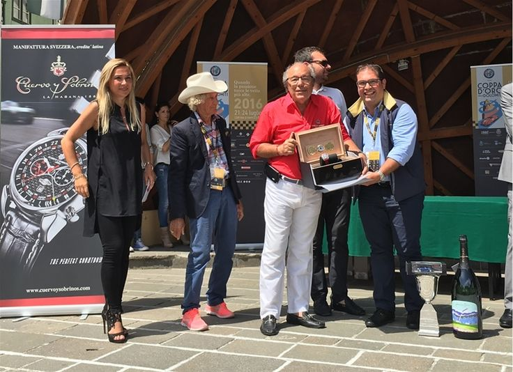 The winner has been awarded by the President of Cuervo y Sobrinos Mr. Marzio Villa with a timepiece of the collection dedicated to the racing world