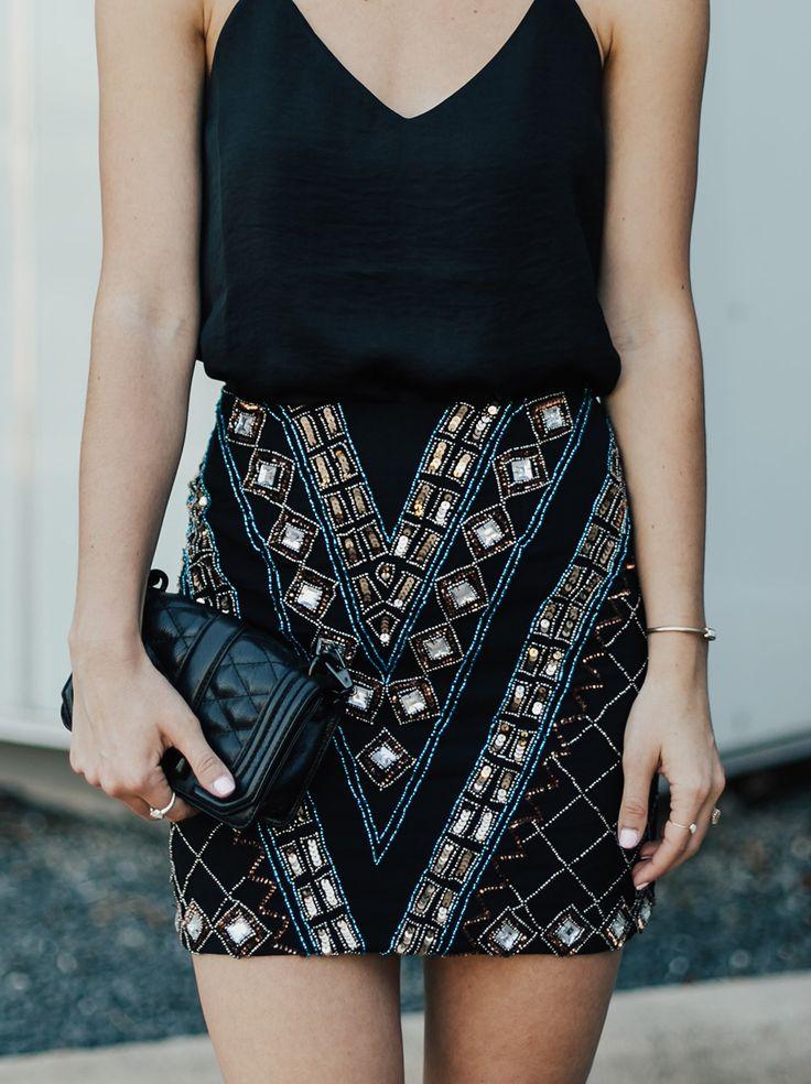 Beaded Mini Skirt | LivvyLand #Women'sFashion