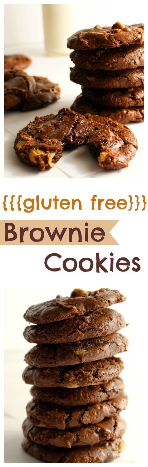 Raise your hand if you love brownies! Now you can satisfy that craving a little quicker with these gluten free brownie cookies-filled with all the rich, fudgey goodness you love about brownies, but in a nice portable package