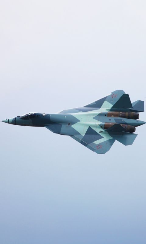 Download this Wallpaper 480x800 - Military/Sukhoi PAK FA (480x800) for all your Phones and Tablets.