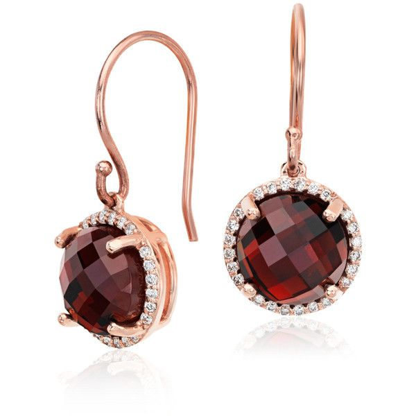 Blue Nile Garnet and Diamond Halo Drop Earrings (8.230 HRK) ❤ liked on Polyvore featuring jewelry, earrings, 14k jewelry, polish jewelry, blue nile earrings, garnet jewelry and garnet jewellery