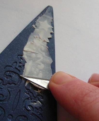 Easier than Sutton Slice? Stamped, baked, back-filled, baked sanded. #Polymer #Clay #Tutorials