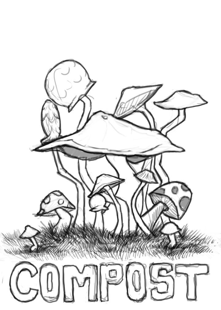 trippy coloring pages mushrooms nutrition - photo#12
