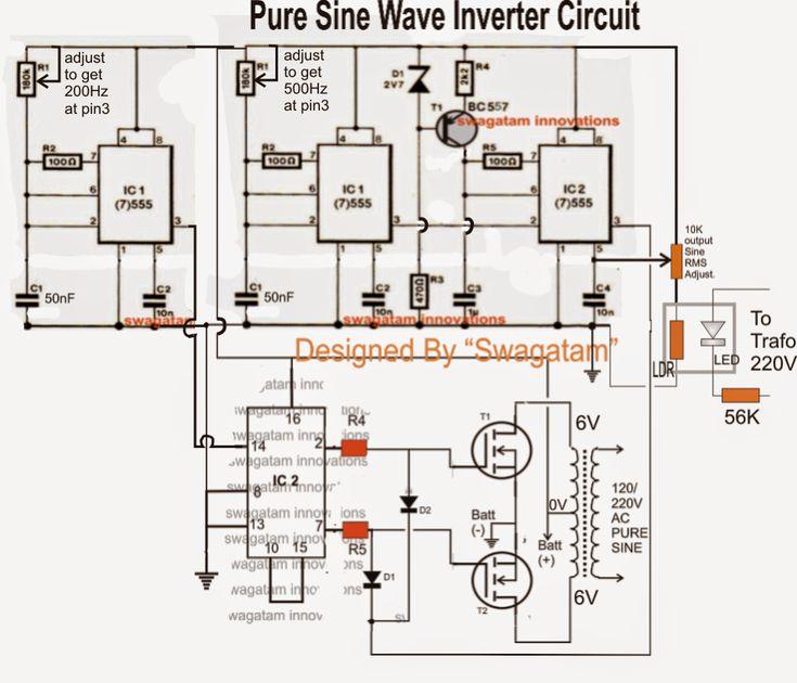 Supply Circuit Diagram Furthermore Pure Sine Wave Inverter