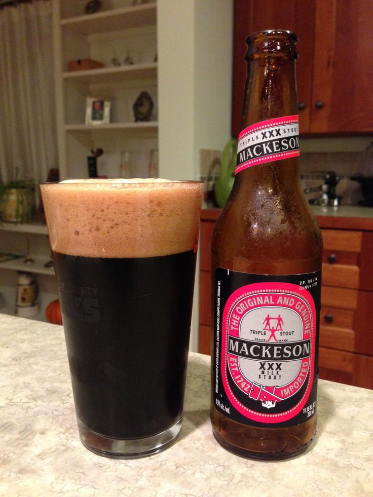 Mackeson XXX Stout:  Day 74: Mackeson XXX Stout from Whitbread Castle Eden. Style of beer is 'Sweet Stout'. ABV is 4.9%.   Read more at http://www.beerinfinity.com/beer-of-the-day-mackeson-xxx-stout/.