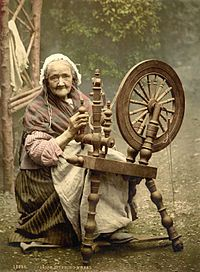 Irish woman spinning, around 1900: Amish Recipe, Libraries Of Congress, Apples Butter, Galway Ireland, Art, County Galway, Spinning Wheels, Country Cooking, Irish