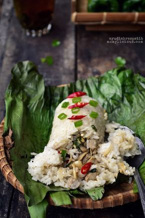 Nasi Bakar Isi Teri dan Jamur
