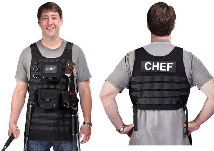 BBQ Barbecue Grill Schuss Weste Tactical Apron SWAT S.W.A.T Grillschürze Chef