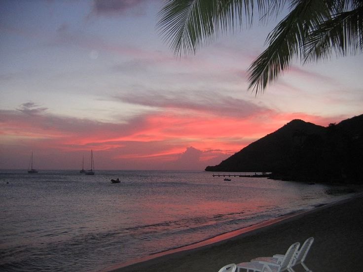Les Anses d'Arlet: Le coucher du soleil/ Sunset