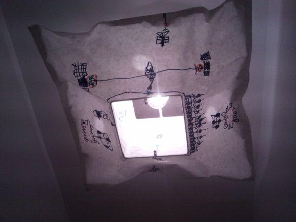 diy! suspention customisée à Ikéa lors d'un atelier Small c'est free! et facile à refaire à la maison ^^ suite sur le blog http://www.greenmaman.com/article-diy-customisation-suspension-en-papier-abat-jour-varmluft-ikea-120680629.html