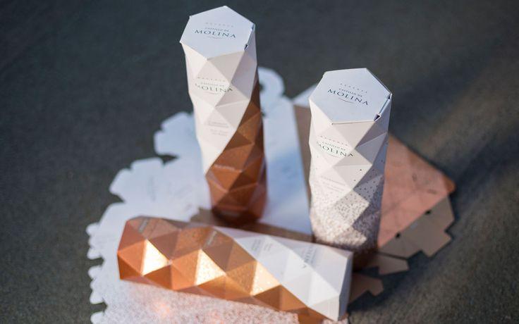 Специалисты чилийской дизайнерской студии Non создали дизайн и разработали конструкцию коробок для упаковки вина Castillo Molina — Viña San Pedro, которое предназначено для продажи в Финляндии на Рождество. Упаковка должна выгодно выделить чилийский товар на прилавках финских магазинов. Коробки изготовлены из картона, у них самосборная конструкция, стенки у коробок кроме печати украшена складками, наподобие японской техники оригами.  Чилийские виноделы утверждают, что первая партия товара…