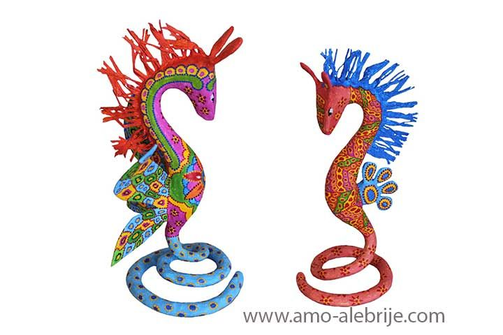 Alebrije Caballito de Mar X Mexican Folk Art