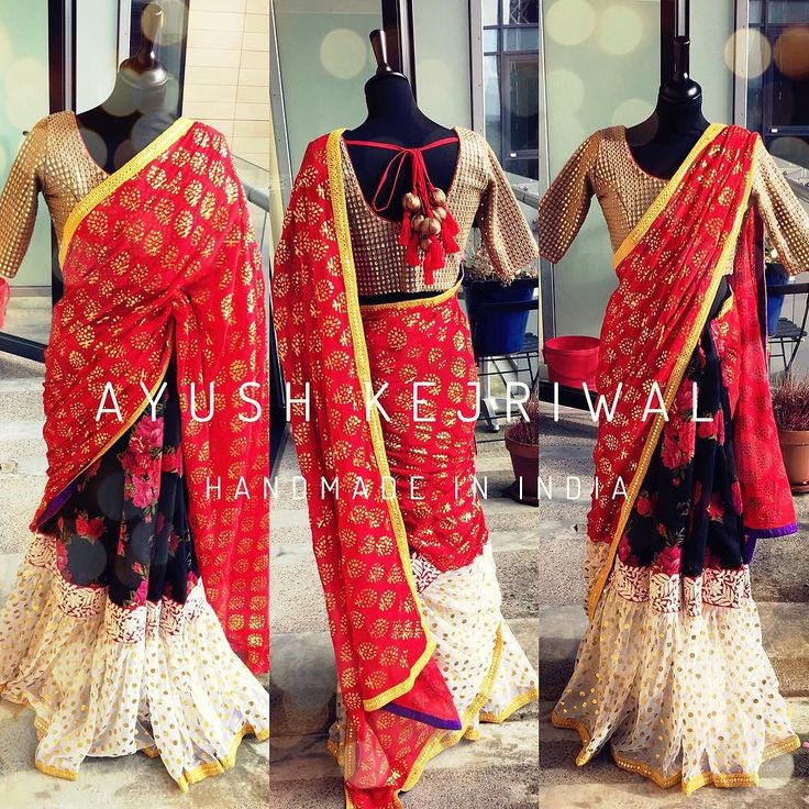 MOHI Red hot Frilled lengha saree  No matter how you wear it your saree should make you feel red hot! That's what this frilled lengha saree is all about  For purchases email me at ayushk@hotmail.co.uk or what's app me on 00447840384707  We ship WORLDWIDE.  #sarees#saris#indianclothes#womenwear #anarkalis #lengha #ethnicwear #fashion #ayushkejriwal#Bollywood #vogue #indiandesigners #handmade #britishasianfashion #instalove #desibride #bollywoodfashion #aashniandco #perniaspopupshop #style…