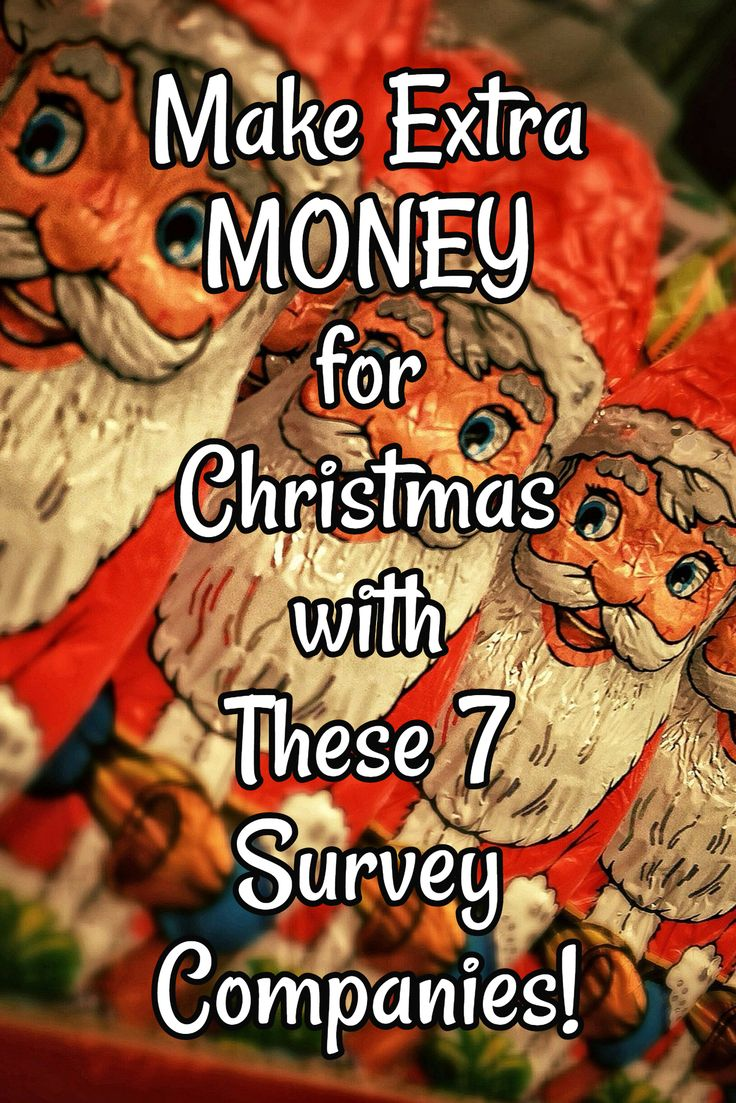 Make Extra MONEY for Christmas with These 7 Survey Companies! Christmas is just around the corner! Make some easy extra cash with these 7 reputable survey companies! #ExtraCash #Christmas