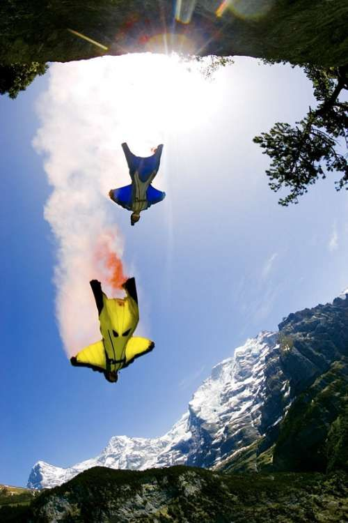 Wing suits look like a blast. Where do I sign up.