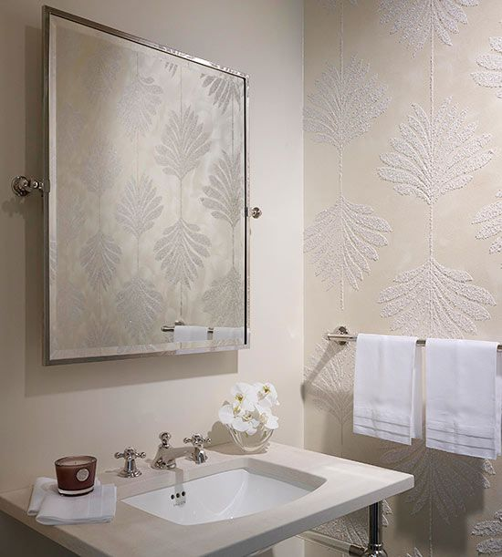Textured Wallpaper For Bathrooms 2017: 84 Best Bathroom Images On Pinterest